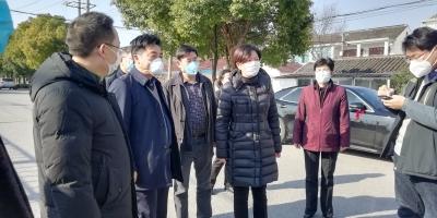 副市长蒋敏检查农村疫情防控工作